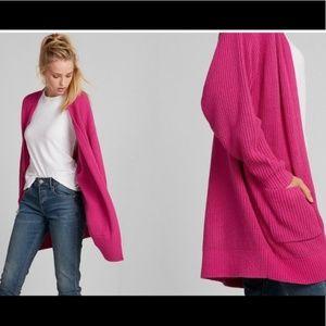 Express Hot Pink Shaker Cardigan Oversized Size L